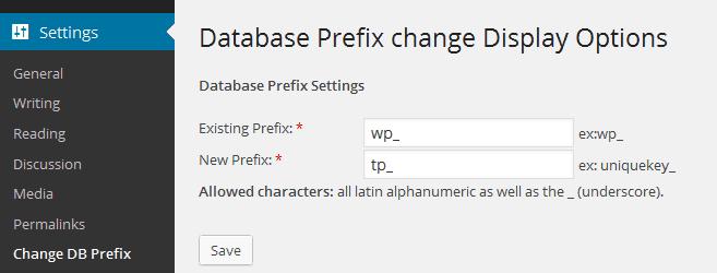 Change WordPress Database